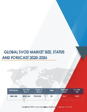 Global SVoD Market Size Status and Forecast 2020 2026
