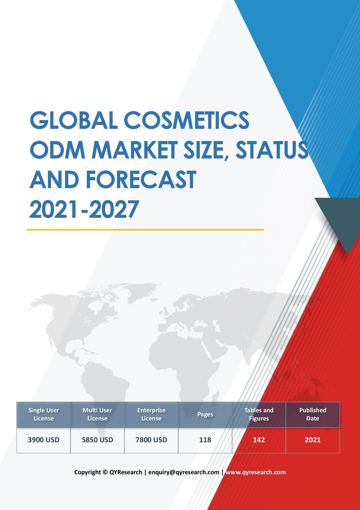 Global Cosmetics ODM Market Size Status and Forecast 2019 2025