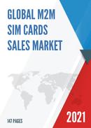 Global M2M SIM Cards Sales Market Report 2021