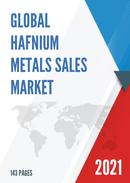 Global Hafnium Metals Sales Market Report 2021