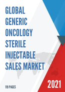Global Generic Oncology Sterile Injectable Sales Market Report 2021