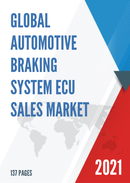 Global Automotive Braking System ECU Sales Market Report 2021