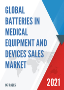 Global Batteries in Medical Equipment and Devices Sales Market Report 2021