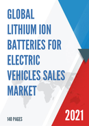 Global Lithium Ion Batteries for Electric Vehicles Sales Market Report 2021
