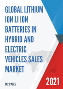Global Lithium ion Li ion Batteries in Hybrid and Electric Vehicles Sales Market Report 2021