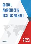 Global Adiponectin Testing Market Size Status and Forecast 2021 2027