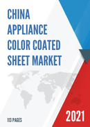 China Appliance Color Coated Sheet Market Report Forecast 2021 2027