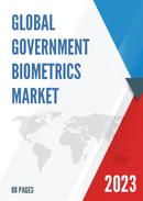 Global Government Biometrics Market Size Status and Forecast 2021 2027