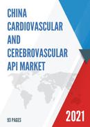 China Cardiovascular and Cerebrovascular API Market Report Forecast 2021 2027