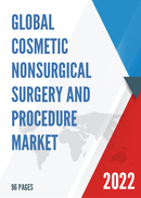 Global and United States Cosmetic Nonsurgical Surgery and Procedure Market Size Status and Forecast 2021 2027