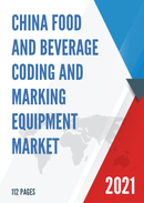 China Food and Beverage Coding and Marking Equipment Market Report Forecast 2021 2027