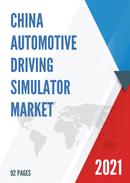 China Automotive Driving Simulator Market Report Forecast 2021 2027