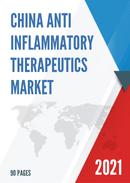 China Anti inflammatory Therapeutics Market Report Forecast 2021 2027