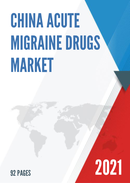 China Acute Migraine Drugs Market Report Forecast 2021 2027