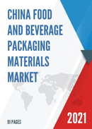 China Food and Beverage Packaging Materials Market Report Forecast 2021 2027