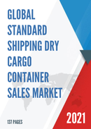 Global Standard Shipping Dry Cargo Container Sales Market Report 2021