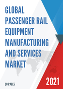 Global Passenger Rail Equipment Manufacturing and Services Market Size Status and Forecast 2021 2027
