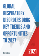 Global Respiratory Disorders Drug Key Trends and Opportunities to 2027