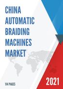 China Automatic Braiding Machines Market Report Forecast 2021 2027