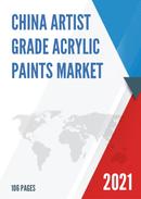 China Artist Grade Acrylic Paints Market Report Forecast 2021 2027