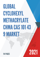 Global Cyclohexyl Methacrylate CHMA CAS 101 43 9 Market Size Manufacturers Supply Chain Sales Channel and Clients 2021 2027
