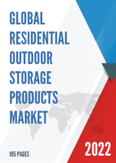 Global Residential Outdoor Storage Products Market Size Manufacturers Supply Chain Sales Channel and Clients 2021 2027