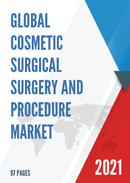 Global Cosmetic Surgical Surgery and Procedure Market Size Status and Forecast 2021 2027