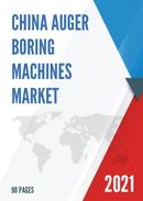 China Auger Boring Machines Market Report Forecast 2021 2027