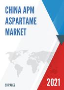 China APM Aspartame Market Report Forecast 2021 2027
