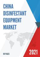 China Disinfectant Equipment Market Report Forecast 2021 2027
